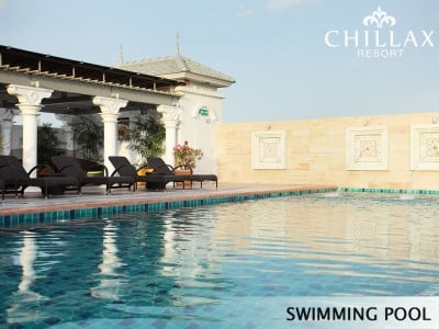 Rooftop swimming pool at Chillax Resort