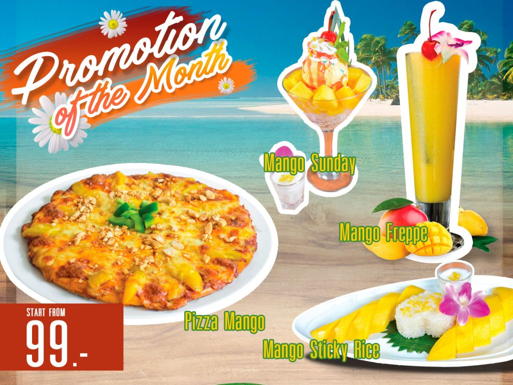 Promotion of April Mango Delight